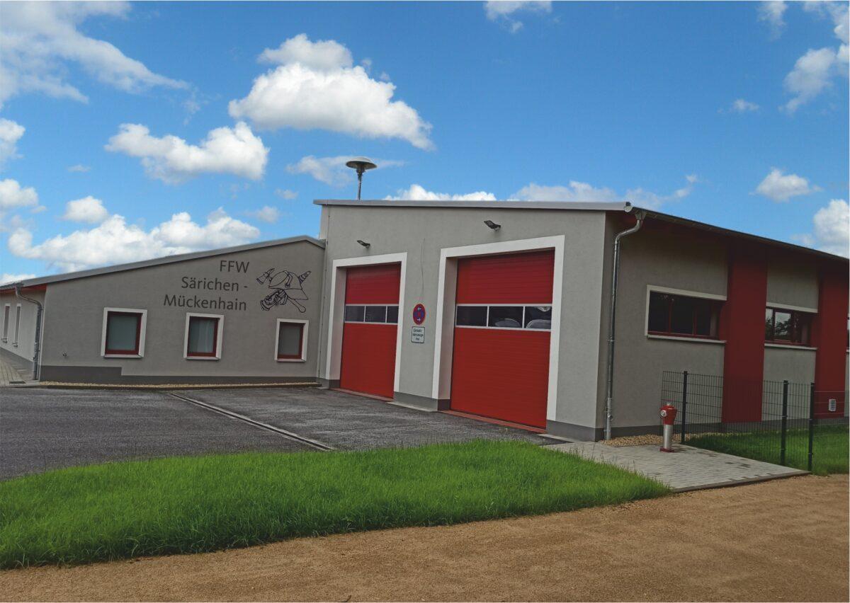 Einweihung des gemeinsamen Feuerwehrgerätehauses in Särichen