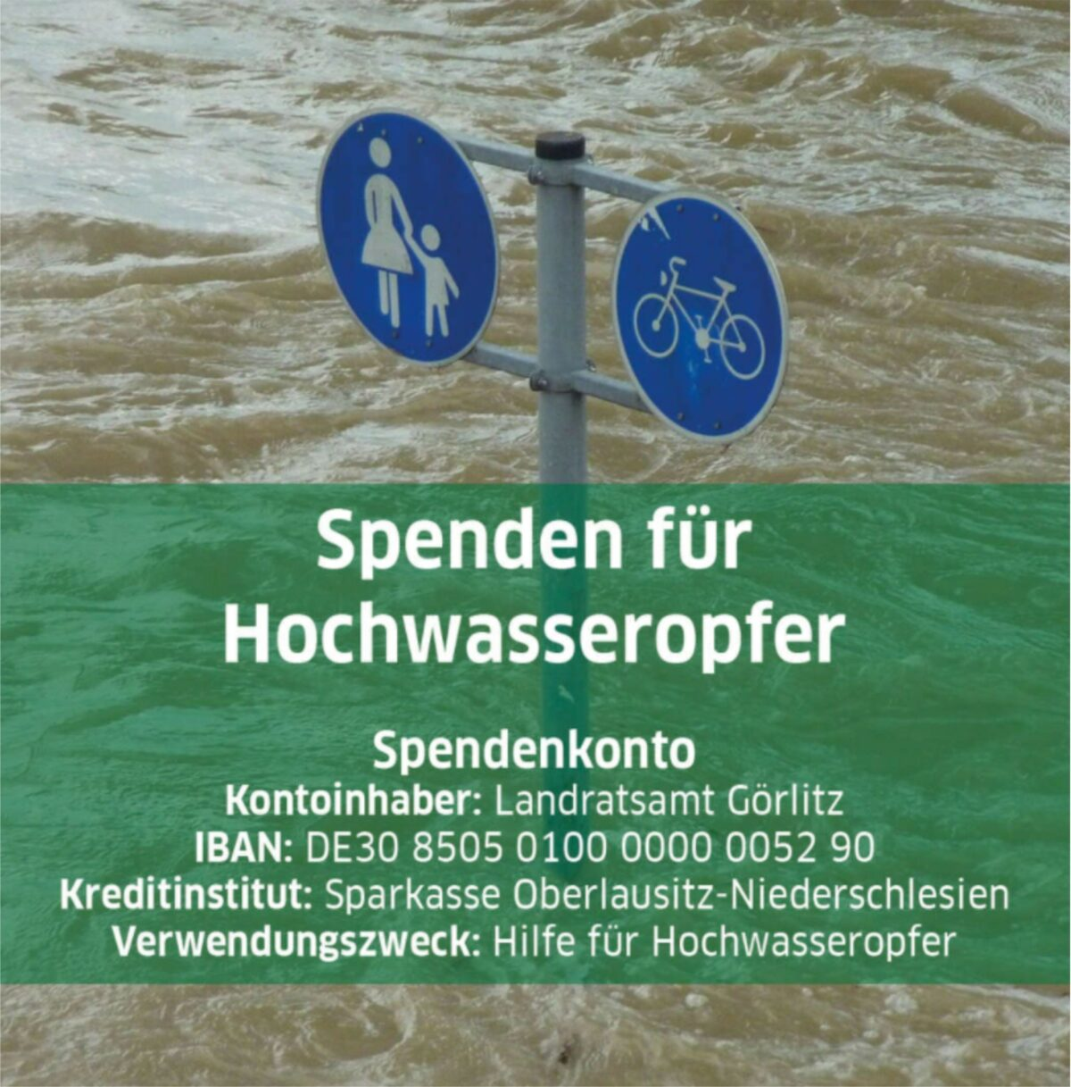 Landrat ruft zum Spenden für die Hochwasseropfer auf