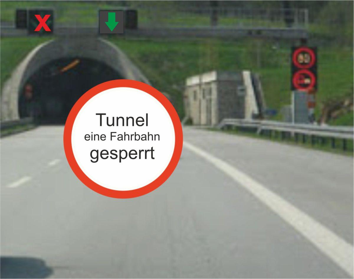 Aktualisierung! Verkehrshinweis: Reinigungsarbeiten im Tunnel